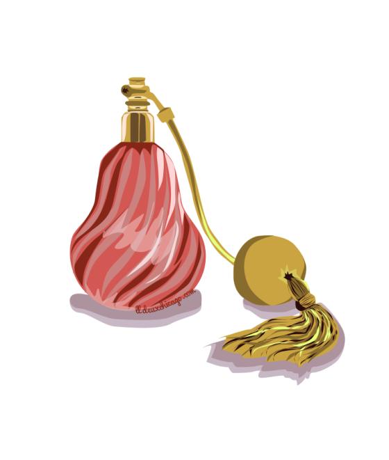 DeuxChicago Vintage Perfume Bottle