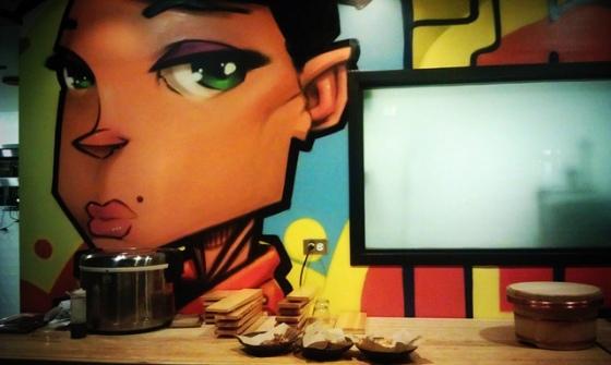 Graffiti Wall at Union Sushi + BBQ