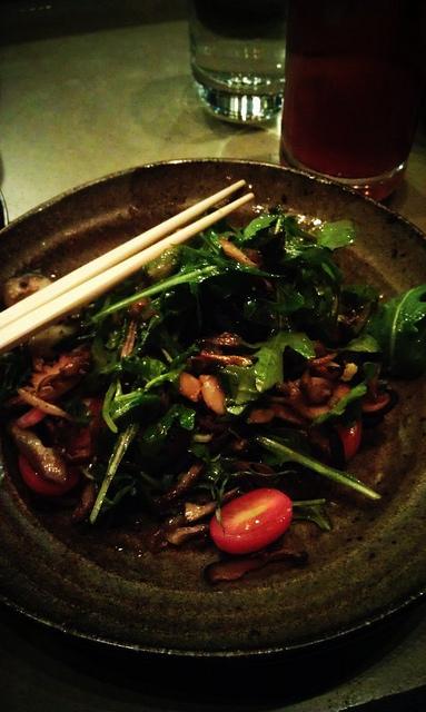 Union Sushi + BBQ Mushroom Salad