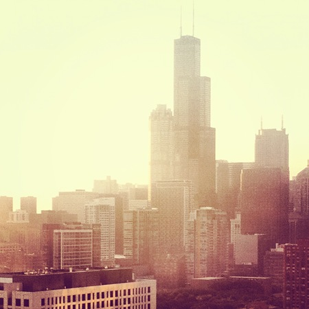 Chicago Skyline at Sunset Picture
