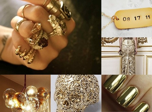 Gold Jewelry and Dress