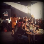The blogger lounge at NYFW