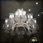 Chandeliers at the Plaza Hotel