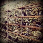 Shopping, shopping, and shopping some more - Allsaints' wall of shoes