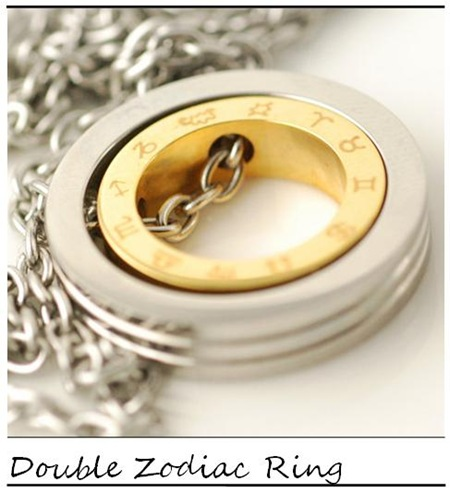 Lucky Horn_Double Ring Circle Pendent_
