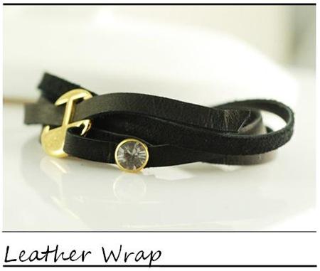 Lucky Horn_Leather Wrap Bracelet_