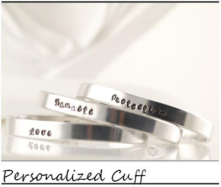 Lucky Horn_Personalized Cuff Bracelet_