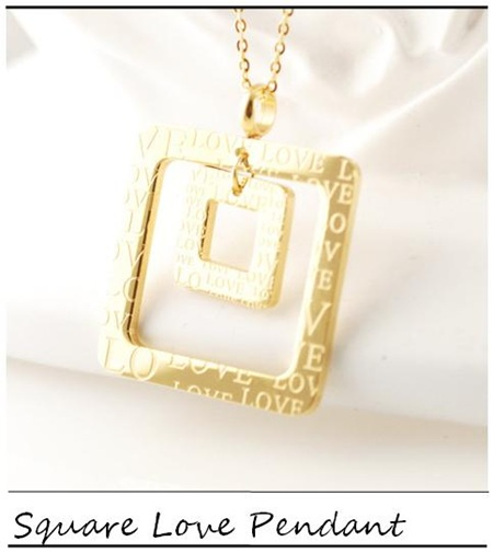 Lucky Horn_Square Love Pendant_
