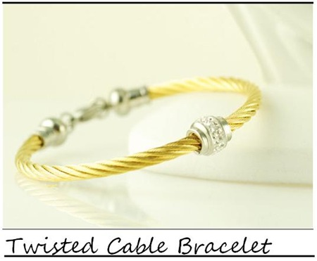 Lucky Horn_Twisted Cable Bracelet_