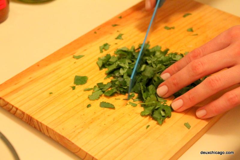 deux-chicago-lettuce-wraps-cilantro-choppig